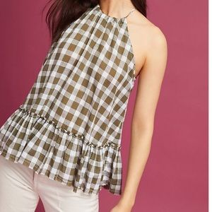 For The Republic | Gingham Halter Top
